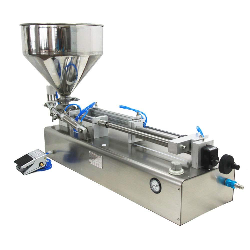 Pneumatic Filling Machine 50-500ml Semi-auto Pneumatic Liquid Filling with 40L Hopper Liquid Filling Machine for Liquid and Paste Filling (10-100ml) by Youlian (Image #4)