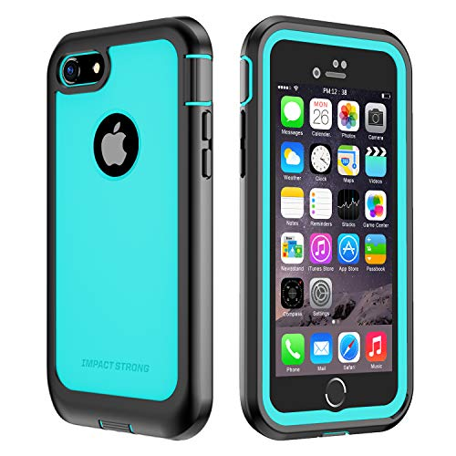 iPhone 7/8 Case, ImpactStrong Ultra Protective Case with Built-in Clear Screen Protector Full Body Cover for iPhone 7 2016 /iPhone 8 2017 (Ocean Blue)