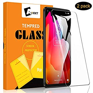 [2-Pack] AVIDET for TCL 10L Screen Protector, HD Clear [Anti-Scratch][Bubble Free][Anti-Fingerprints] 9H Hardness 0.3mm Ultra Slim Tempered Glass Compatible for TCL 10L