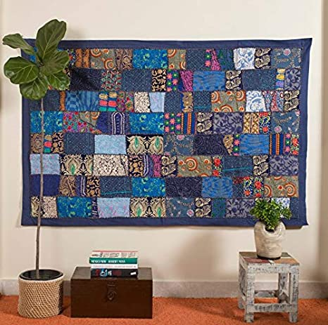Indian Patchwork Vintage Saris /& Dresses Tapestry Ethnic Decoration Wall Hanging