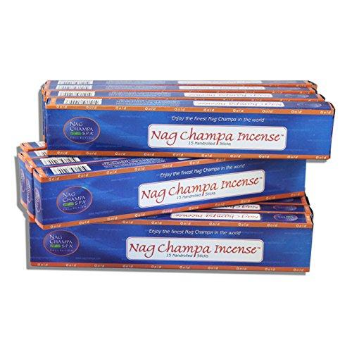Nag Champa Gold Incense 15 Sticks - 12 Boxes (180 Total)