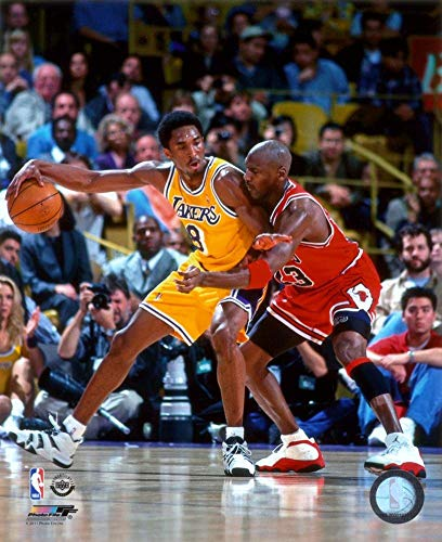 Michael Jordan & Kobe Bryant 1998 Action Glossy Photograph Photo Print