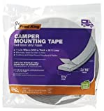 Frost King V447H 1-1/4'' x 3/16'' x 30' ft Self Adhesive Gray Camper Weatherstrip Tape - Quantity 24