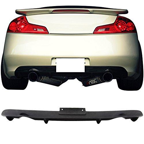 - Rear Diffuser Fits 2003-2007 Infiniti G35 | NS Style Unpainted Black Polyurethane (PU) Spoiler Splitter Valance Chin Bodykit by IKON MOTORSPORTS | 2014 2015