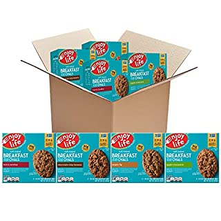 Enjoy Life Soft Baked Ovals, Variety Pack Breakfast Bars, Nut Free Bars, Soy Free, Dairy Free, Non GMO, Gluten Free Vegan Breakfast Bars, 4 Boxes (20 Bars Total)