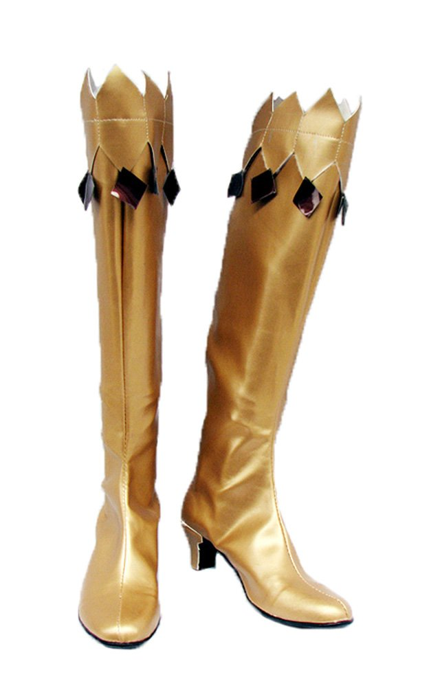 Sailor Moon Cosplay Shoes Boots Custom Made Golden