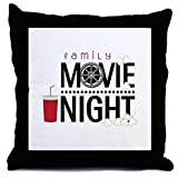 CafePress Family Movie Night - Decor Throw Pillow (18''x18'')