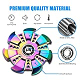 Premium Aluminum Alloy Metal Tri Fidget Hand Colorful Rainbow Spinner EDC Finger Toys Stress Reducer Relieves ADHD Anxiety for Kids & Adults