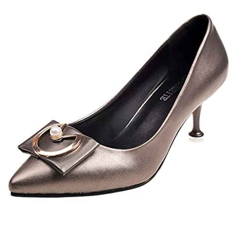 5ed40736518b Outsta Shoes Women s Pumps Middle Heels with Single Shoes Pointed Head Thin Heels  Shoes 2019 Shoes