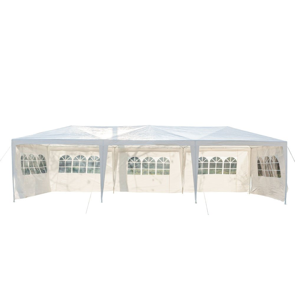 Lovinland 3 x 9m 5 Sides Portable Home Use Waterproof Tent with Iron Tubes White