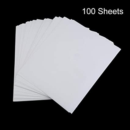 100 PCS A4 Papel de impresión por sublimación para poliéster Algodón Camiseta Hierro sobre papel de transferencia Accesorios de transferencia de impresión térmica Kaemma(Color:White): Amazon.es: Oficina y papelería