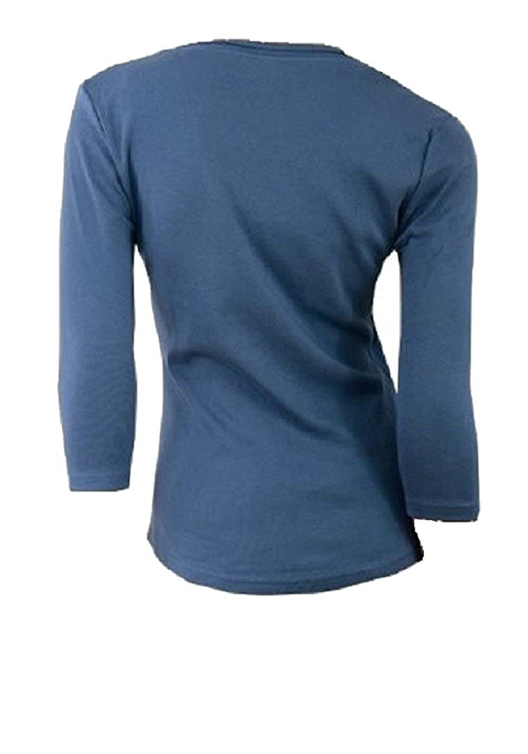 Ladies Matalan Blue Cotton 3/4 Sleeve Top Papaya Womens Blouse 12 ...