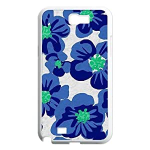 Blue Flowers Unique Design Cover Case for Samsung Galaxy Note 2 N7100,custom case cover ygtg612026