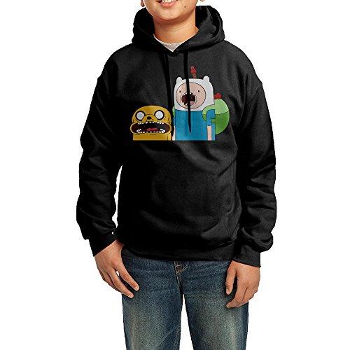 GGDD Boys & Girls Adventure Time Jake & Finn Tour Funny Hoodie Hooded Sweatshirt Leisure Style M (Adventure Time Jake Teen Costumes)