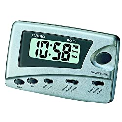 Casio Digital Traveler's Alarm Clock Snooze LED #PQ-11D-8RDF