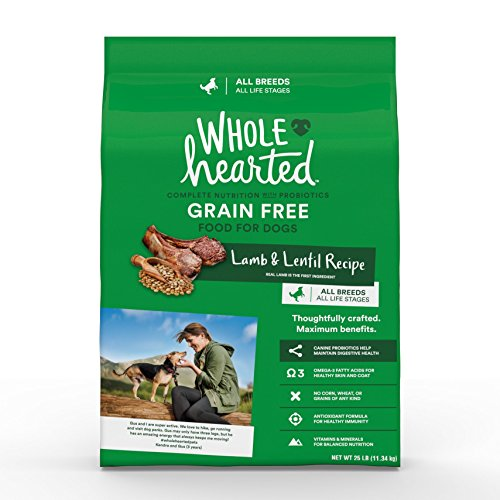 Cheap WholeHearted Grain Free All Life Stages Lamb and Lentil Formula Dry Dog Food, 25 lbs.