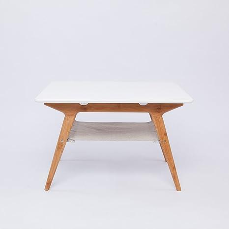 GFL Tavolo da Pranzo da casa Tavolino/Tavolo Quadrato Bianco/bambù ...