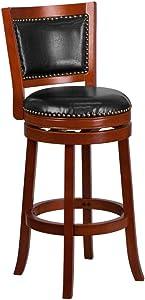 "Flash Furniture 30"" Light Cherry Wood Stool"