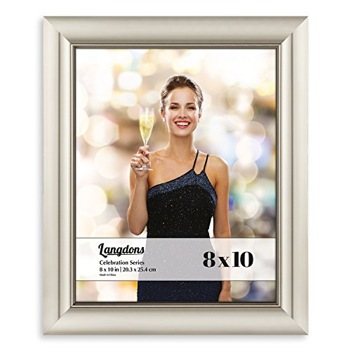e Frame Set (1 Pack, Champagne Picture Frame) Photo Frame 8x10, Wall Hang or Table Top Display, 8 x 10 Frame - Champagne Gold Picture Frame, Celebration Series ()