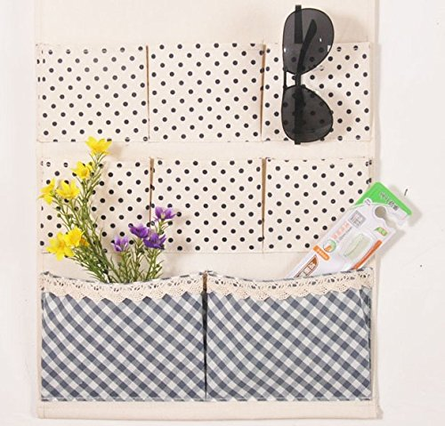 Wall-Mounted Storage Bag Door Behind Bathroom Multi-Layer Fabric Hanging Bag, F by SEESUNG (Image #1)