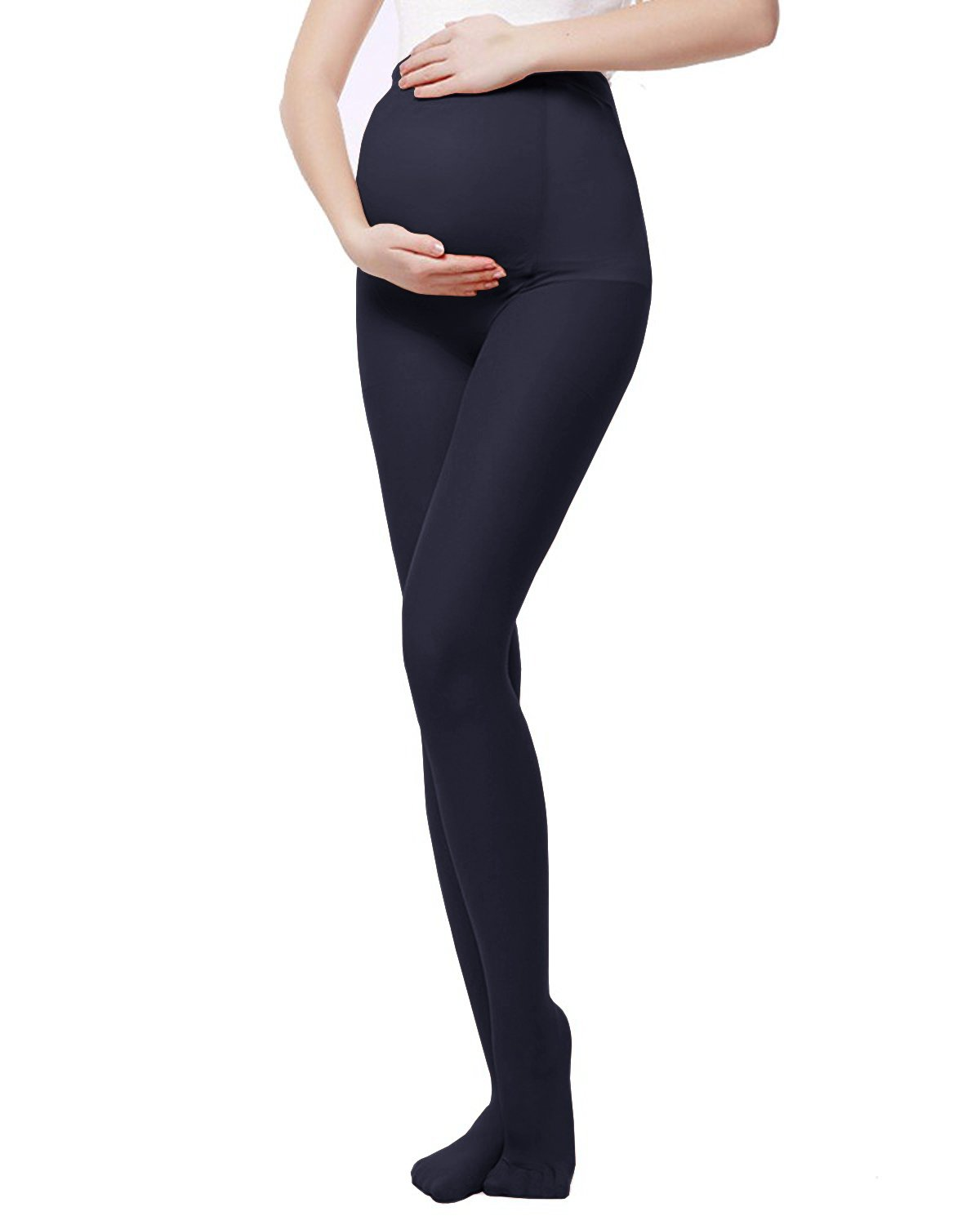 L&ZZ Opaque Maternity Tights - Super Comfortable Support Pantyhose for All Stages of Pregnancy Tights