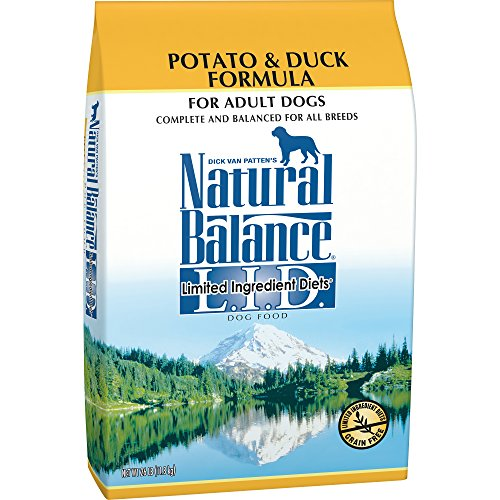 Natural Balance L.I.D. Limited Ingredient Diets Dry Dog Food, Grain Free, Potato & Duck Formula, 26-Pound