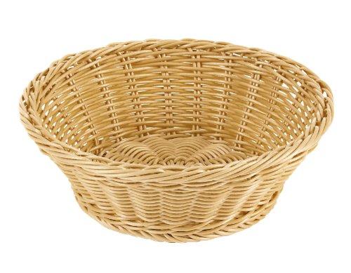 Polyrattan Bread Basket - Paderno World Cuisine 7-1/2-Inch Diameter Round Polyrattan Bread Basket