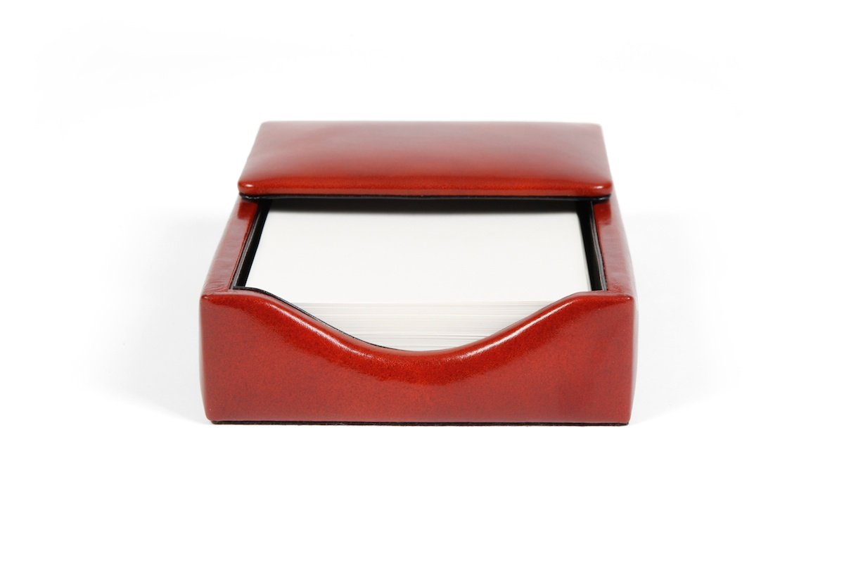Bosca Old Leather Flip Top Memo Box (Amber)