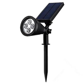 Lámpara Solar para Jartín Mpow,IP65 Impermeable Certificado con Sensor de Sensor de Movimiento,