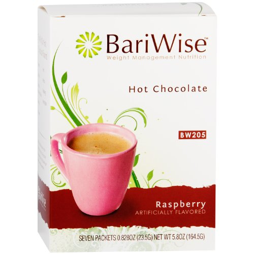 Raspberry Hot Cocoa - BariWise High Protein Hot Cocoa - Instant Low-Carb, Low Calorie Hot Chocolate Mix with 15g Protein - Raspberry (7 Count)