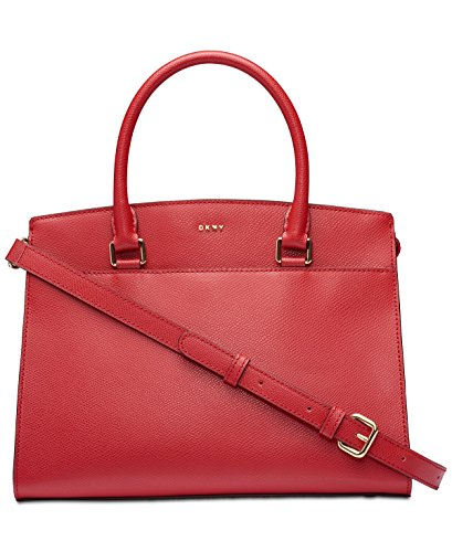Dkny Red Leather - DKNY Medium Leather Satchel (Bright Red)