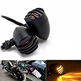 KATUR 2x Black Motorcycle Turn Signals Light Bulb Indicators Blinkers For Yamaha/Honda/Suzuki/Kawasaki