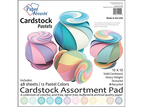 accent design paper accents adp1212.109312x 12' Pastel cartulina Pad