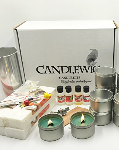 Candlewic 58247 Coconut & Apricot Wood Wick Candle Kit