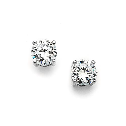 847a12d39 Image Unavailable. Image not available for. Color: Mariell 2 Carat Round-Cut  CZ Stud Earrings ...