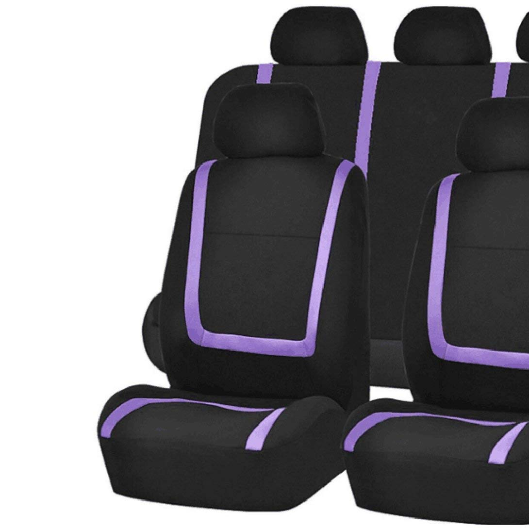 9PCS Swiftswan Car Seat Covers Universal Fit Full Set Car Seat Protectors Tire Tracks Car Seat Accessories