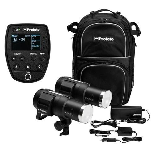 Profoto B1X 500 AirTTL Location Kit, Includes Two B1X 500 AirTTL Flash Heads, Two Li-on Batteries MKII, Battery Charger, Car Charger and Backpack TTL-S Air Remote for Canon Cameras (Profoto B1 500 Airttl Battery Powered Flash)