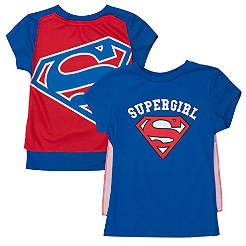 Supergirl Cape Costume Tee Shirt Large (10/12) -