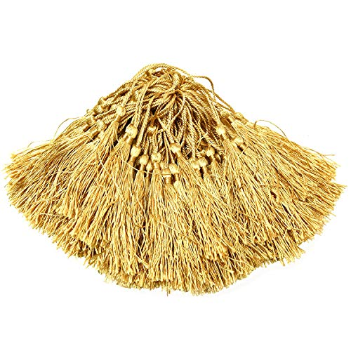 Monrocco 200pcs Silky Handmade Soft Craft Mini Tassels with Loops for Jewelry Making, Souvenir, Bookmarks, DIY Craft Accessory