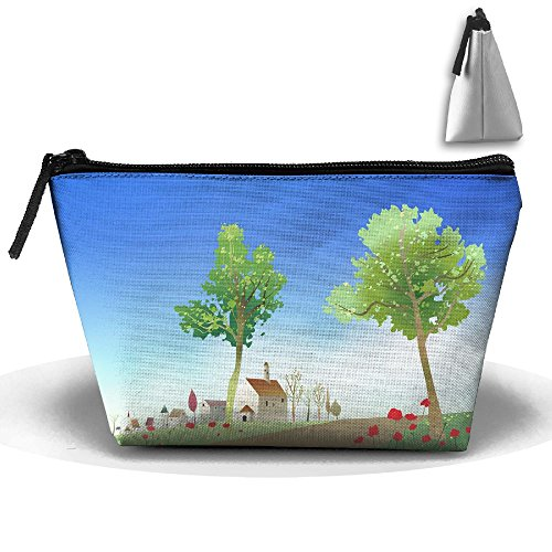 Portable Travel Storage Bags Country Road All Printed Clutch Wallets Big Pouch Purse Zipper Holder For Kits Medicine And Makeup Bag