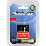 Maximal Power DB CAN NB11L Battery for Canon NB-11L and Canon PowerShot ELPH 110/320HS, A2300, A2400, A3400, A4000 Camera (Black)