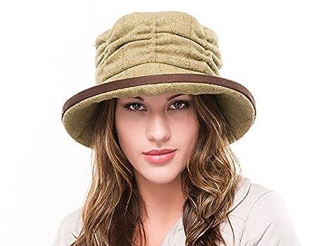 Mujer Lana Tweed estilo de moda casual sombrero cloché Zara br73 ...
