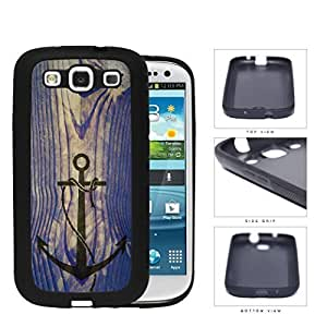 Ship Anchor Watermark On Vintage Wood Rubber Silicone TPU Cell Phone Case Samsung Galaxy S3 SIII I9300