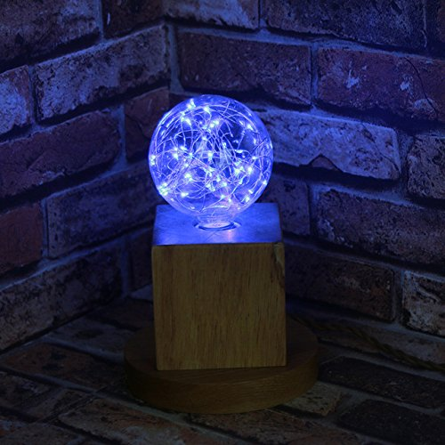 Holiday Decor Light 110v 220v Copper Filament Bulb G95 Night Light E27 Led Bulb (Blue)