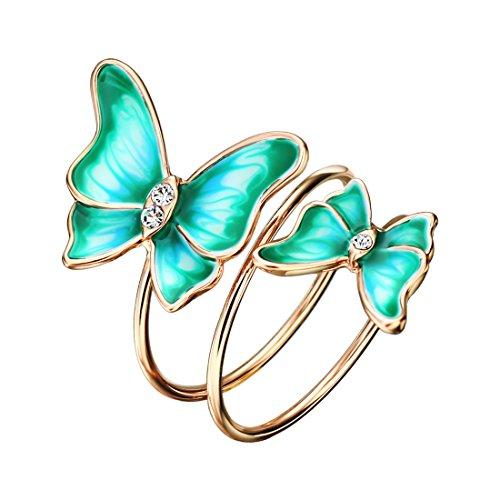Enamel Butterfly Ring - 4