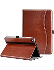 Ztotop Case for iPad Mini 4, Premium Leather Folio Stand Protective Case Smart Cover with Multi-Angle Viewing, Paperwork Card Pocket, Functional Elastic Strap for iPad Mini 4 - Brown