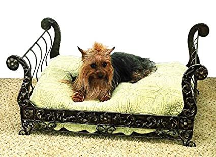 Amazoncom Antique Bronze Iron Sleigh Pet Dog Bed Metal Frame
