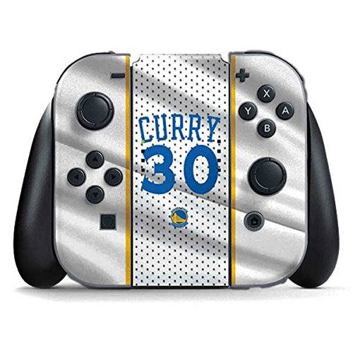 Golden State Warriors Nintendo Switch Joy Con Controller Skin - Stephen Curry Golden State Warriors Jersey | NBA & Skinit Skin by Skinit