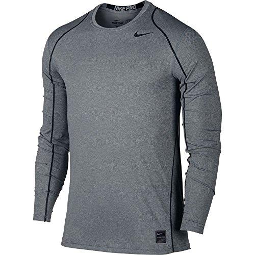 Nike Dri Fit Body (Nike Mens Pro Cool Long Sleeve Training Shirt Carbon Heather/Black 703100-091 Size)