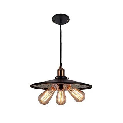 Amazon.com: Colgante Retro luz industrial viento restaurante ...